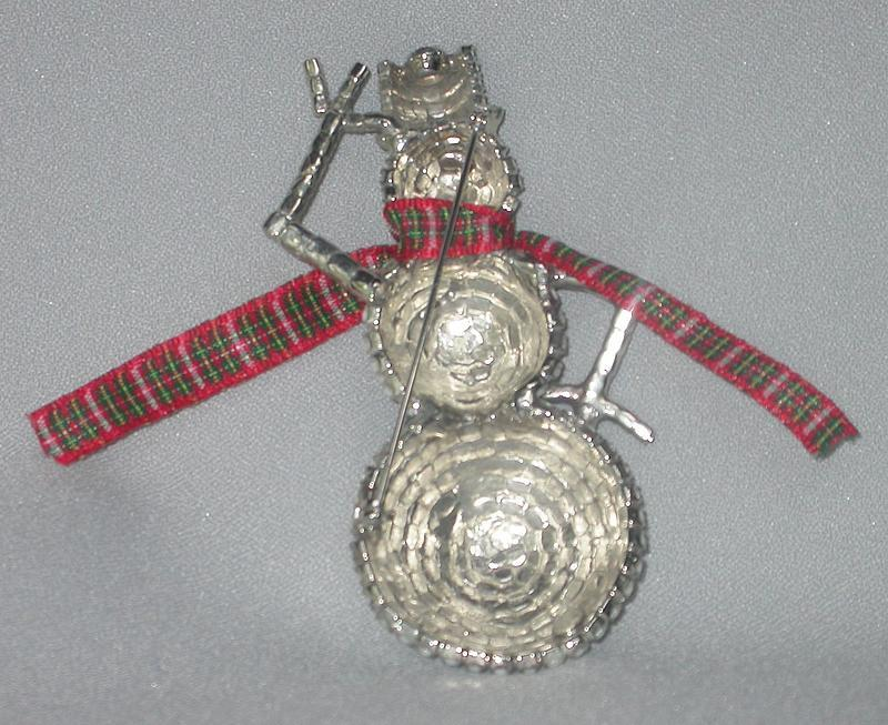 "DOROTHY BAUER'S ""SNOW  PERSON"" BROOCH"