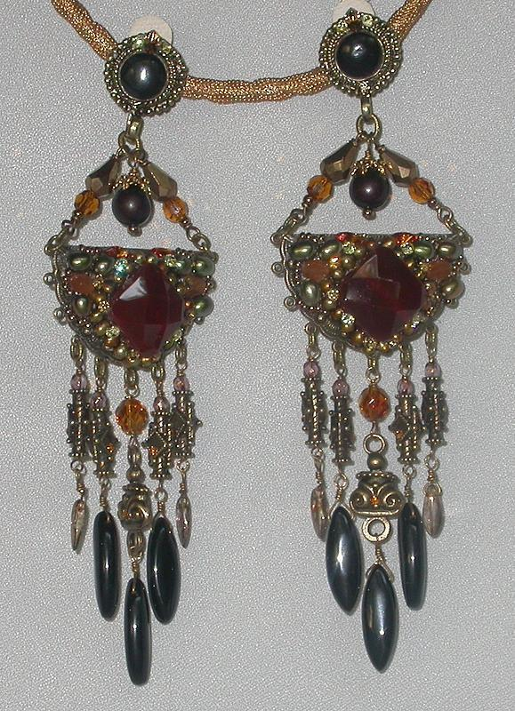 CHANDELIER CLIP EARRINGS BY MAYA
