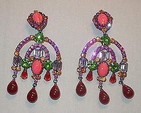 KENNETH LANE OUTRAGEOUS CLIP EARRINGS