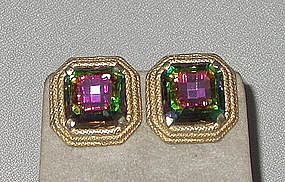 ELSA SCHIAPARELLI SQUARE EARRINGS