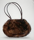 MINK AND ALLIGATOR PURSE
