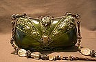 MAYA DEEP OLIVE AND GOLD FROST PURSE