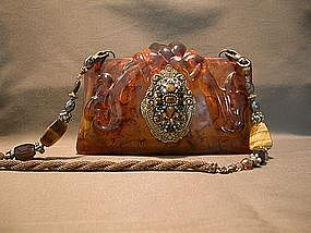 ELEGANT AMBER COLORED PURSE BY MAYA