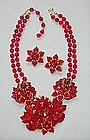 HAGLER/ST. GIELAR RED FLORAL SET