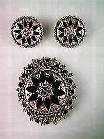 Florenza Brooch and Earrings