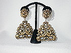 JOSEFF HUGE DANGLE EARRINGS