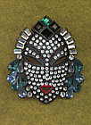 Deco Mask Brooch