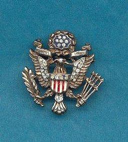 TRIFARI STERLING PATRIOTIC PIN
