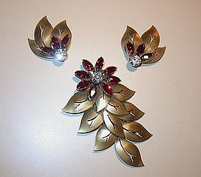 JOSEFF BROOCH AND EARRINGS
