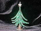 EMERALD CHRISTMAS TREE PIN BY DOROTHY BAUER