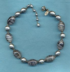 MIRIAM HASKELL ART GLASS NECKLACE