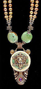 PATRICE LION HEAD NECKLACE