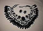 VRBA BLACK FRINGE NECKLACE AND EARRINGS
