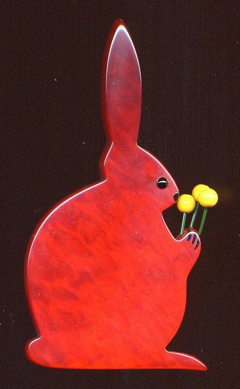 RABBIT BROOCH BY PAVONE