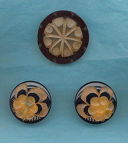 Bakelite Clip, Bakelite Earrings