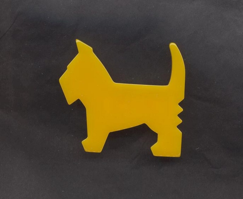 Bakelite Scottie Brooch