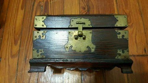 Korean wooden document box.
