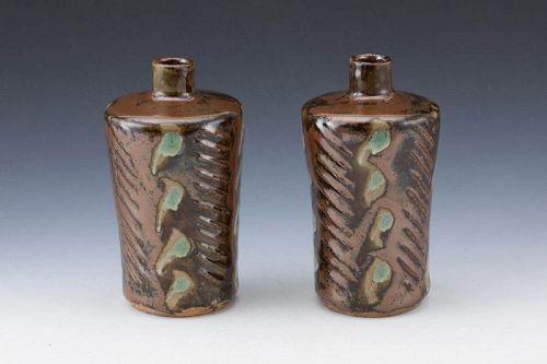 Hamada Shoji (Founder of Mingei, Mashiko), Sake flasks (tokkuri)