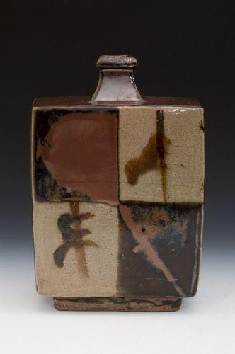 Hamada Shoji (Founder of Mingei, Mashiko), Square Bottle-Vase