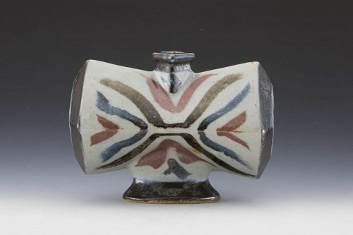 Kawai Buichi (Mingei potter, nephew of Kawai Kanjiro), Butterfly Vase