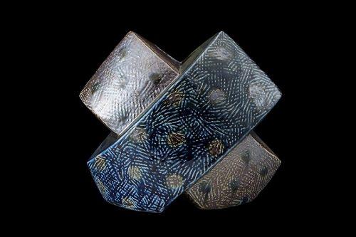"Hamada Tomoo (Hamada Shoji's grandson), Sculptural Vase ""Intersection"""