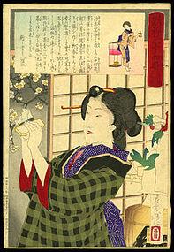Yoshitoshi Woodblock Beauty - 7 PM: New Year's Party