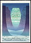 Toshi Yoshida Abstract Woodblock - Glacier Age