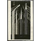 Kiyoshi Saito Woodblock - Notre Dame Pais (B)