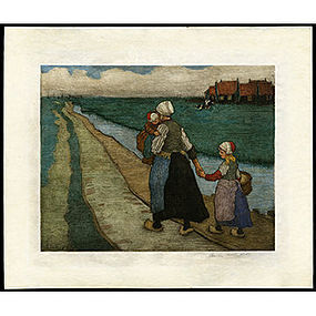 Large Color Etching by Charles W. Bartlett