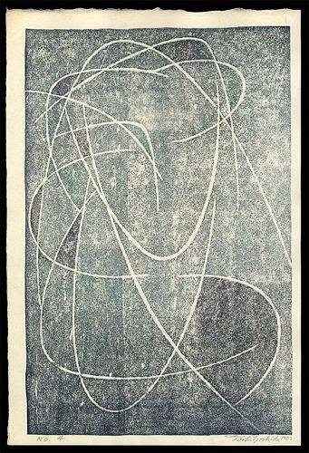 Toshi Yoshida Abstract Woodblock - No. 4