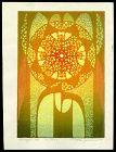 Toshi Yoshida Abstract Woodblock - Mirage