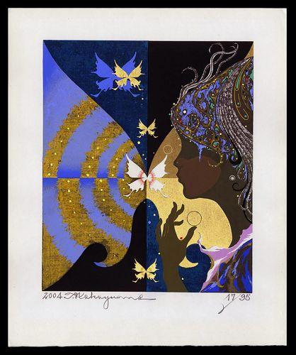 Gorgeous Tadashi Nakayama Woodblock Print - Kocho (B) - 17/95