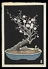 Lilian Miller Woodblock - Plum Bonsai Tree
