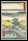 Hiroshige Woodblock -Upright Tokaido Series