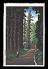 Hasui Woodblock - Road to Nikko