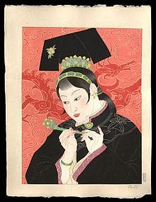 Jacoulet Woodblock - Jade Lady - Chinese