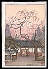 Toshi Yoshida Woodblock - Cherry Blossoms