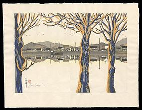 Fuchu - Woodblock from Sekino's Tokaido Road
