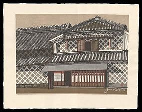 Numazu - Woodblock from Sekino's Tokaido Road