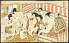 Erotic Japanese Woodblock Print by Koryusai