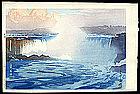 Niagra Falls Woodblock Print by Hiroshi Yoshida