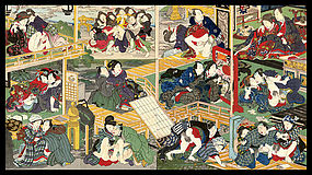 Erotic Woodblock Puzzle Print Set