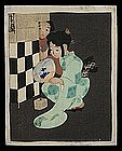 Early 20th Cent. Japanese Woodblock - 2 Girls