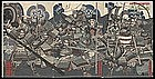 Japanese Woodblock Triptych by Sadahide