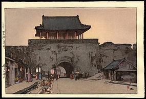 Original Hiroshi Yoshida Woodblock: Dainan Gate