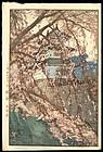 Original Hiroshi Yoshida Woodblock - Hirosaki Castle