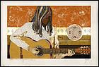 Oversized Tadashi Nakayama Woodblock - My Guitar