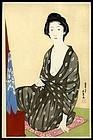 Original Woodblock Print by Goyo - Woman After Bath