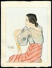 Original Woodblock Print by Jacoulet - Rita Sablan-Diaz
