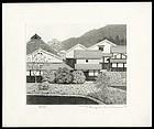 Original Tanaka Ryohei Print - White Wall Village